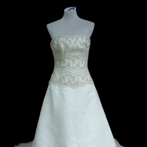 Mori Lee Dresses 12 Ivory Gold Embroidery Wedding Dress Poshmark